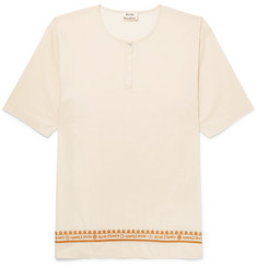 Acne Studios Ringoh Embroidered Cotton-Poplin Shirt
