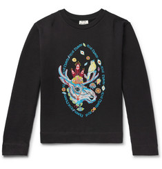 Acne Studios Oslavi E Rave Moose Embroidered Loopback Cotton-Jersey Sweatshirt
