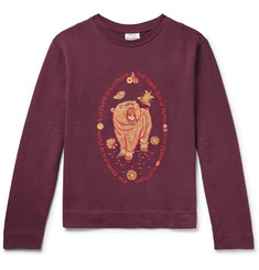 Acne Studios Oslavi E Bear Embroidered Loopback Cotton-Jersey Sweatshirt