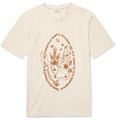 Acne Studios Bemabe Moose Embroidered Cotton-Jersey T-Shirt