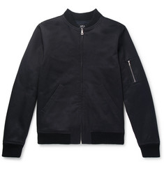A.P.C. Fleece-Back Cotton Bomber Jacket