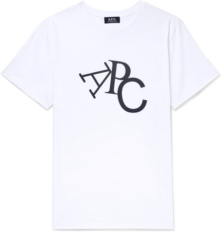 Jimmy Logo Print Cotton Jersey T Shirt by A.P.C.