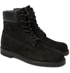 Hender Scheme - MIP-14 Leather-Trimmed Suede Boots