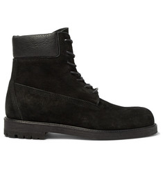 Hender Scheme MIP-14 Leather-Trimmed Suede Boots