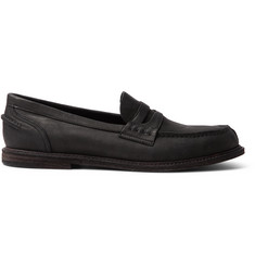 Hender Scheme Split-Toe Distressed Leather Penny Loafers