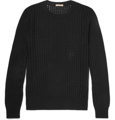 Bottega Veneta Open-Knit Silk Sweater