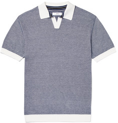 Mr P. Slim-Fit Knitted Cotton-Piqué Polo Shirt