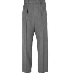 Gucci - Wide-Leg Pleated Wool Trousers