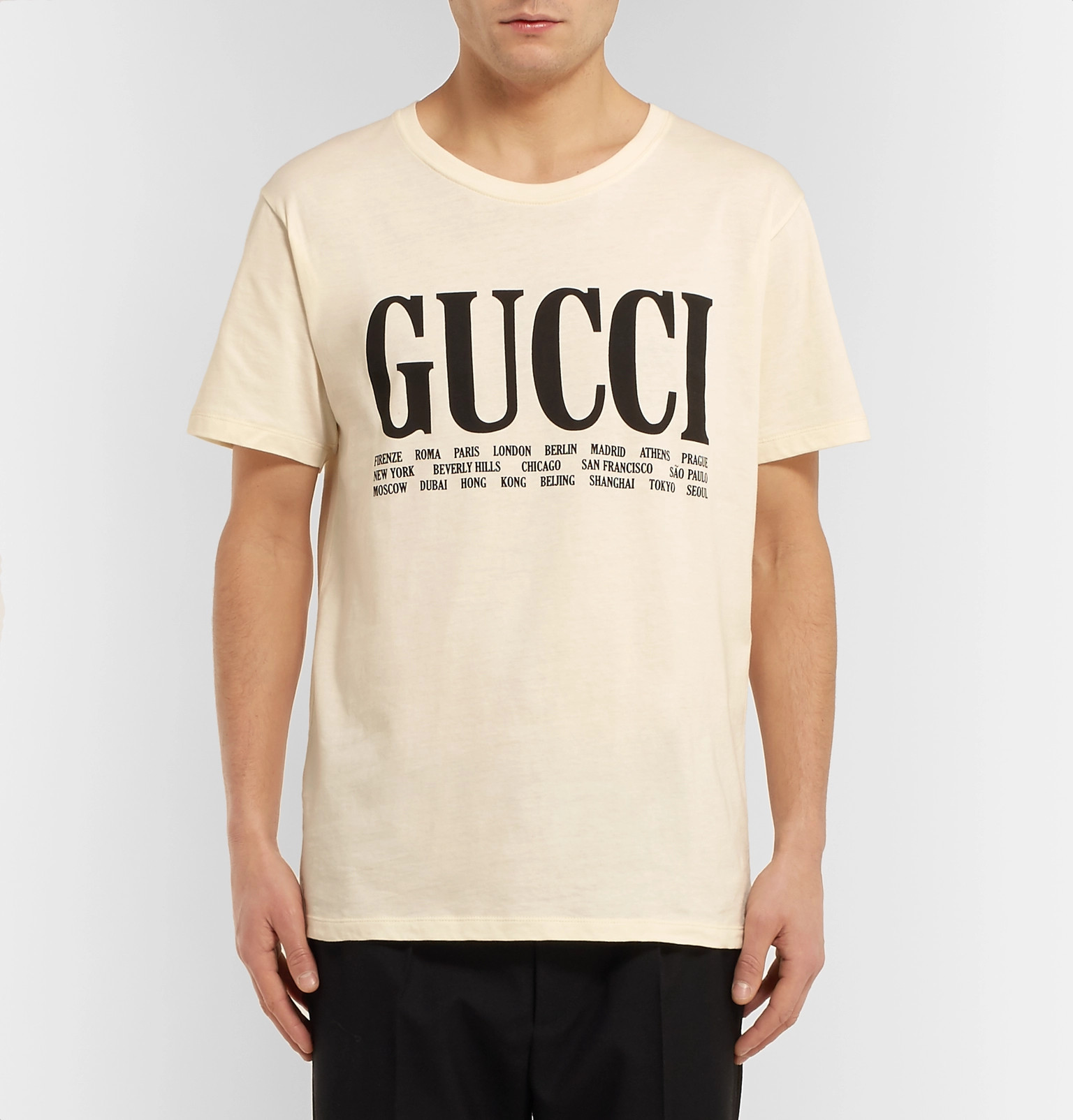 bbb20dd7a5f Gucci - Printed Cotton-Jersey T-Shirt