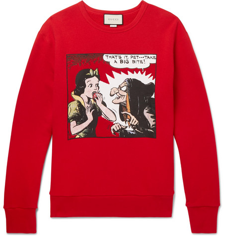 11a8608d8b5c Shoptagr   Oversized Printed Loopback Cotton Jersey Sweatshirt by Gucci