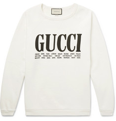 Gucci Printed Cotton-Jersey Sweatshirt