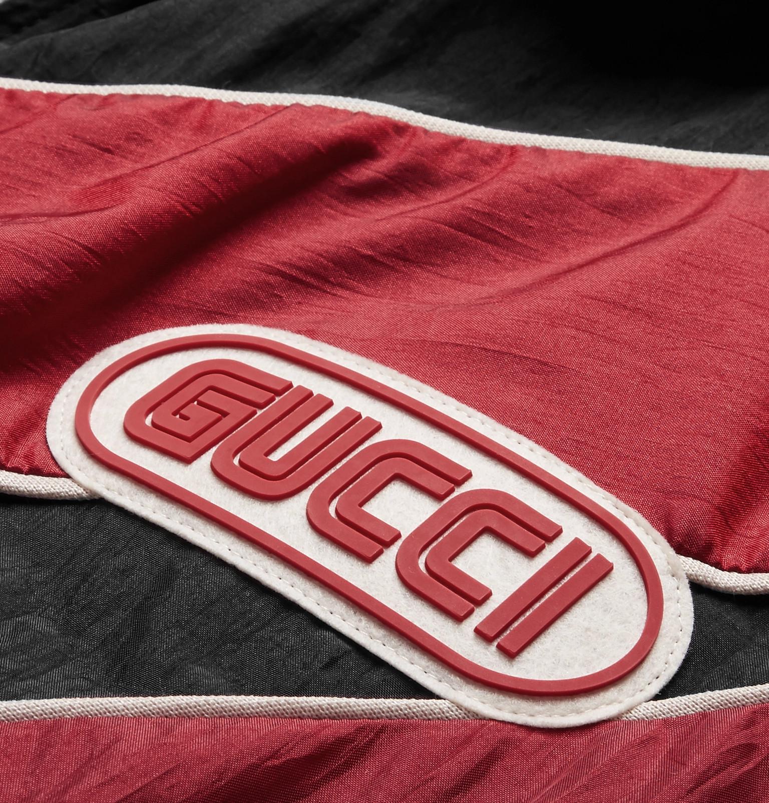 4ca355531 Gucci - Appliquéd Striped Shell Jacket