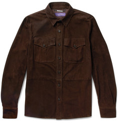 Ralph Lauren Purple Label - Barron Suede Shirt Jacket