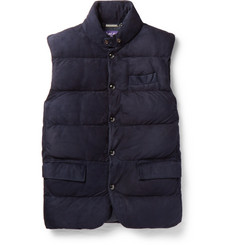 Ralph Lauren Purple Label - Lloyd Quilted Suede Down Gilet