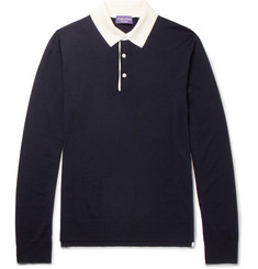 Ralph Lauren Purple Label Slim-Fit Wool Polo Shirt