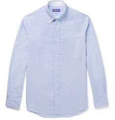 Ralph Lauren Purple Label - Striped Cotton Oxford Shirt