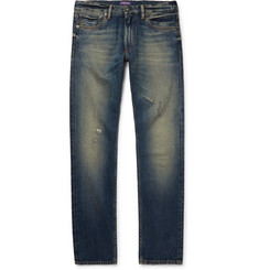 Ralph Lauren Purple Label - Slim-Fit Distressed Denim Jeans