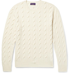 Ralph Lauren Purple Label Cable-Knit Cashmere Sweater