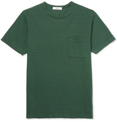 Mr P. - Garment-Dyed Mélange Cotton-Jersey T-Shirt