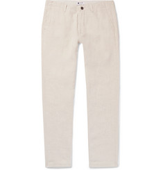 NN07 Simon Tapered Linen Trousers