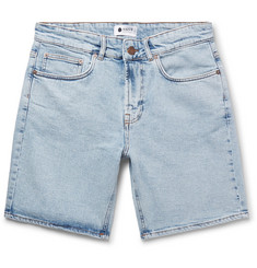NN07 Slim-Fit Washed Stretch-Denim Shorts