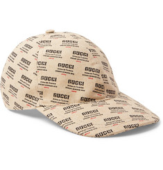 Gucci Logo-Print Linen and Cotton-Blend Canvas Baseball Cap