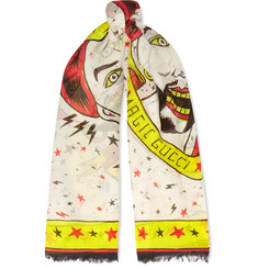Gucci Printed Cotton Scarf