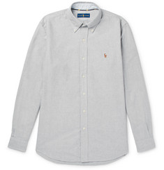 Polo Ralph Lauren Slim-Fit Button-Down Collar Mélange Cotton Oxford Shirt