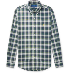 Polo Ralph Lauren - Slim-Fit Button-Down Collar Checked Cotton-Poplin Shirt