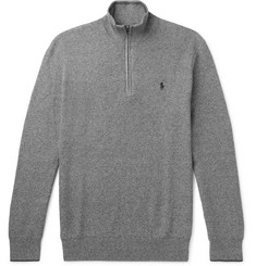 Polo Ralph Lauren - Waffle-Knit Pima Cotton Half-Zip Sweater
