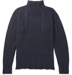 Polo Ralph Lauren Textured-Knit Cotton Mock-Neck Sweater
