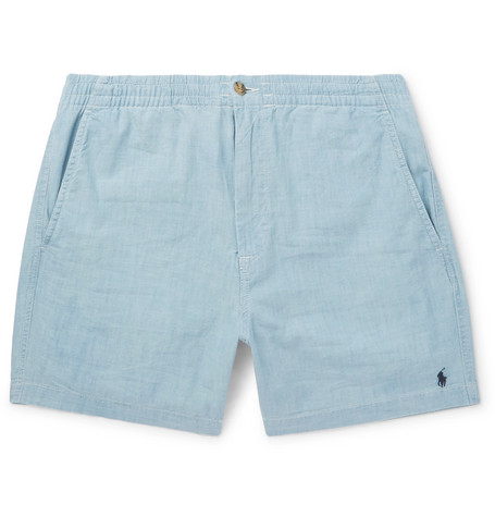 Original Prepster Stretch-cotton Chambray Shorts Polo Ralph Lauren Cheap Sale The Cheapest Sale Clearance Store Buy Online Cheap Price Websites Cheap Online 3kXTgI
