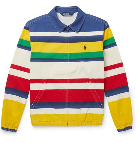 Striped Cotton Blouson Jacket by Polo Ralph Lauren