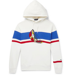 Polo Ralph Lauren Appliquéd Fleece-Back Cotton-Blend Jersey Hoodie