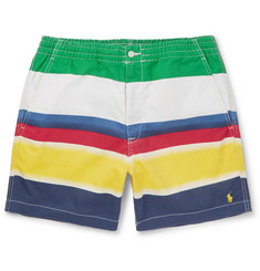 Polo Ralph Lauren Colour-Block Stretch-Cotton Twill Shorts