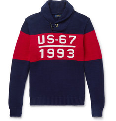 Polo Ralph Lauren 1993 Shawl-Collar Intarsia Cotton Sweater