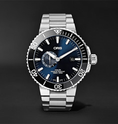 Oris Aquis Small Second Date Automatic 45.5mm Stainless Steel Watch, Ref. No. 01 743 7733 4135-07 8 24 05
