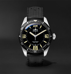 Oris - Divers Heritage Sixty-Five 40mm Stainless Steel and Rubber Watch