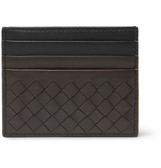 Bottega Veneta Two-Tone Intrecciato Leather Cardholder