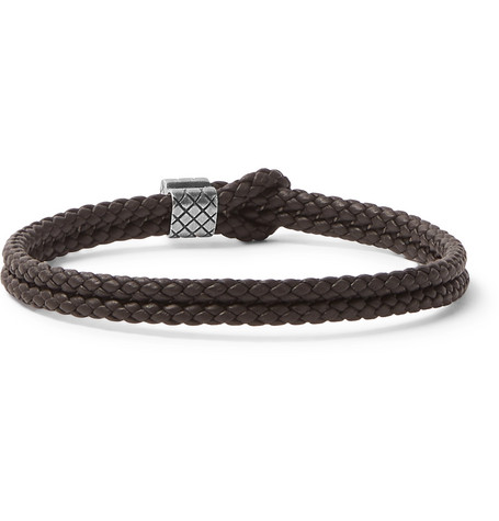 bracelet us tone mrp mens silver en l and oxidised in veneta leather bottega intrecciato