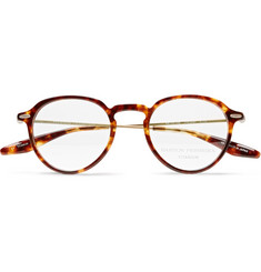 Barton Perreira Elon Round-Frame Tortoiseshell Acetate and Gold-Tone Titanium Optical Glasses