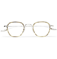 Barton Perreira Alva Round-Frame Acetate and Silver-Tone Optical Glasses
