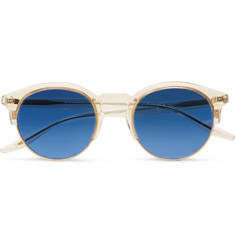 Barton Perreira Griffin Round-Frame Acetate and Gold-Tone Sunglasses