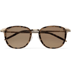 Barton Perreira - + Allied Metal Works Tortoiseshell Acetate and Gold-Tone Polarised Sunglasses