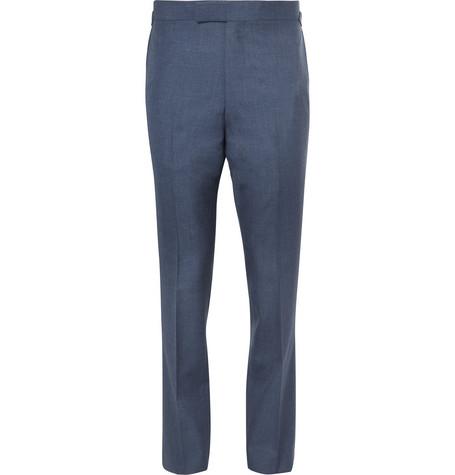 KINGSMAN Harry's Navy Slim-Fit Wool Suit Trousers