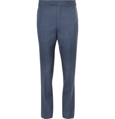 Kingsman-Harry's Navy Slim-Fit Wool Suit Trousers