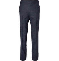 Kingsman Eggsy's Navy Slim-Fit Puppytooth Wool Trousers