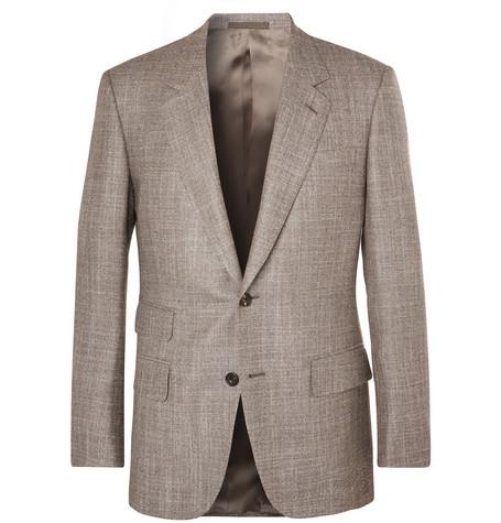 KINGSMAN Harry's Brown Mélange Wool, Silk and Cashmere-Blend Suit Jacket