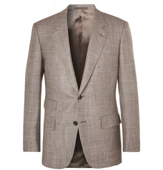 Kingsman - Harry's Brown Mélange Wool, Silk and Cashmere-Blend Suit Jacket