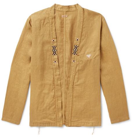 KAPITAL Embellished Linen Jacket